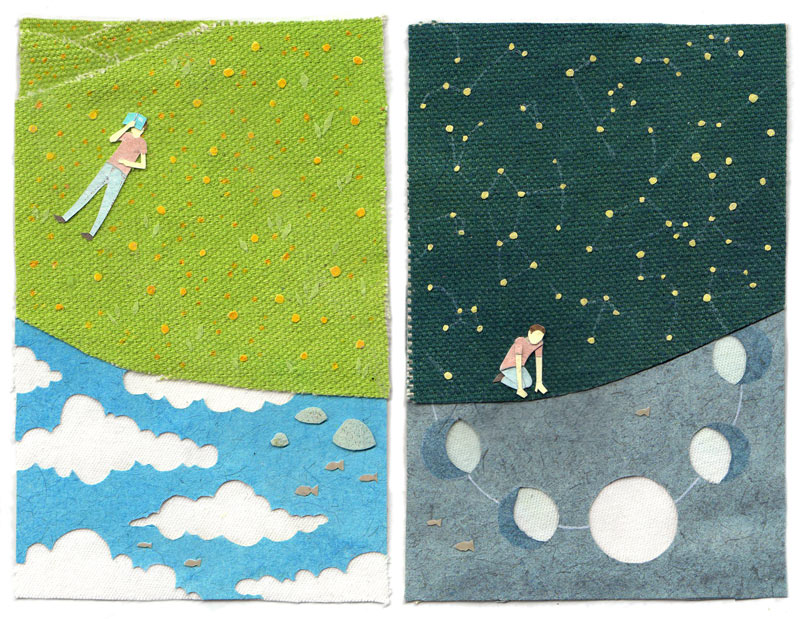 Day and Night illustration by Miki Sato