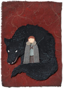 Rickon and Shaggydog Illustration by Miki Sato