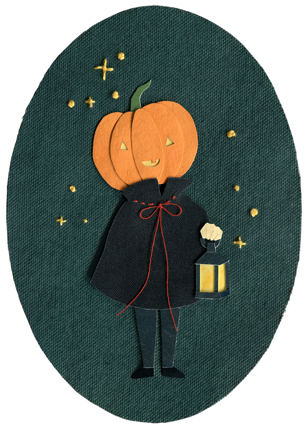 Pumpkin Head Illustration by Miki Sato