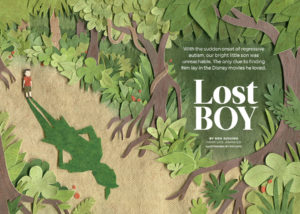 Reader's Digest Canada - Lost Boy Illustration by Miki Sato
