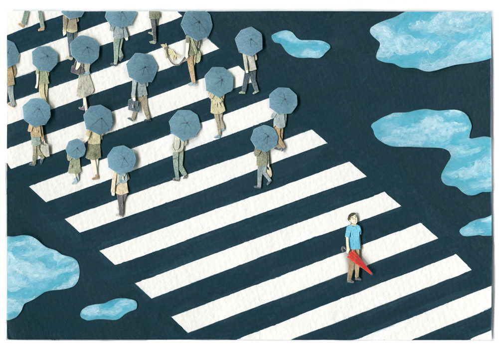 Crosswalk Illustration by Miki Sato