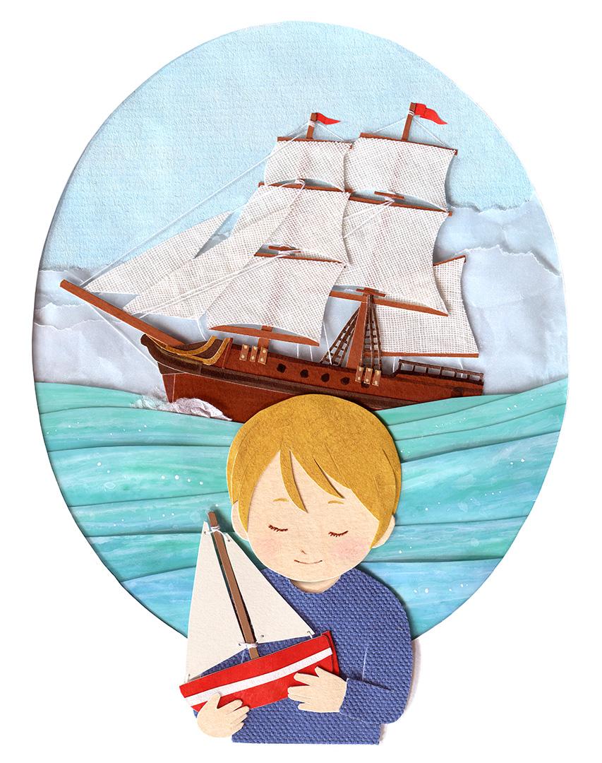 Little Sailor Illustration by Miki Sato