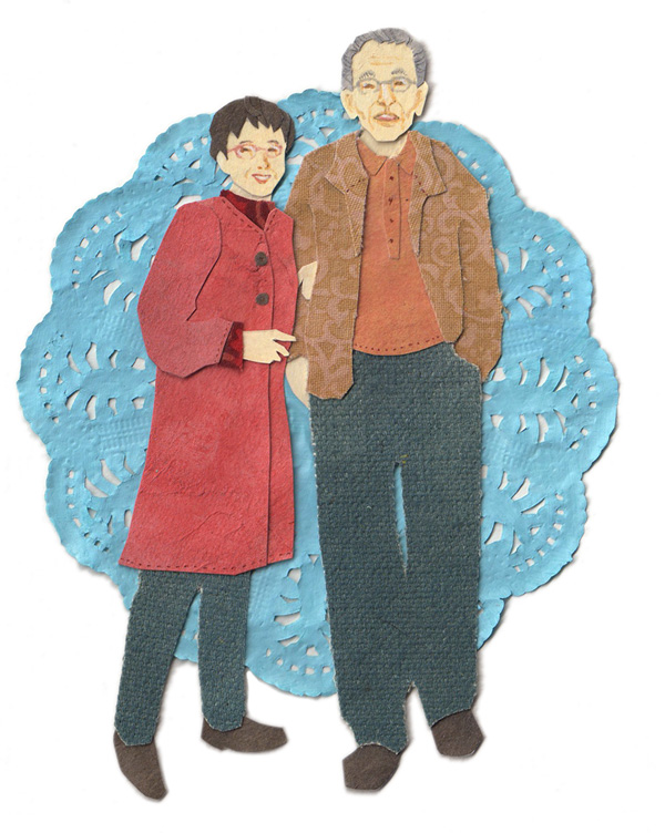 Grandparents illustration by Miki Sato