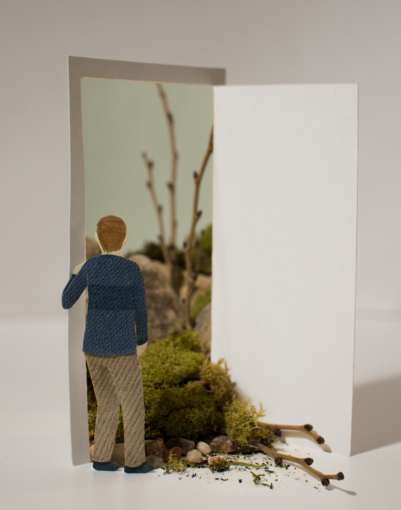 Open Door Diorama illustration by Miki Sato