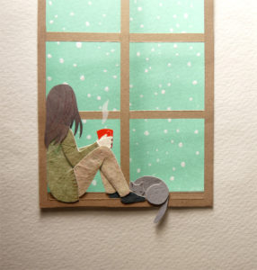Snowing Outside Illustration by Miki Sato