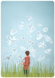 Take Flight Diorama illustration by Miki Sato